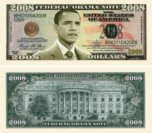 Barack Obama Collectible 2008 Novelty Bill