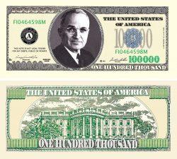 $100,000.00 CASINO PARTY MONEY