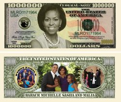 MICHELLE OBAMA (FIRST LADY/FIRST FAMILY) MILLION DOLLAR BILL