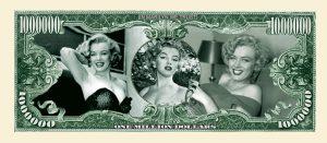Marilyn Monroe Million Dollar Bill