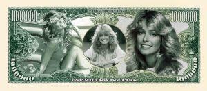 Farrah Fawcett Million Dollar Bill