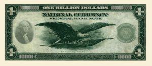 CLASSIC BILLION DOLLAR BILL