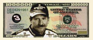 DALE EARNHARDT SR. MILLION DOLLAR BILL