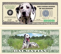 DALMATIAN MILLION DOLLAR BILL