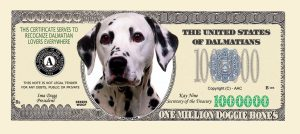 DALMATIAN MILLION DOLLAR BILL