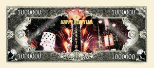 NEW YEARS 2010 MILLION DOLLAR BILL