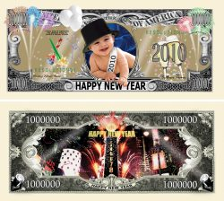 NEW YEARS 2010 MILLION DOLLAR BILL