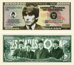 GEORGE HARRISON MILLION DOLLAR BILL