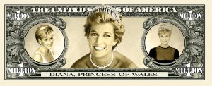 PRINCESS DIANA MILLION DOLLAR BILL