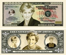 PRINCESS DIANA MILLION DOLLAR BILL