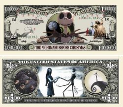 NIGHTMARE BEFORE CHRISTMAS MILLION DOLLAR BILL