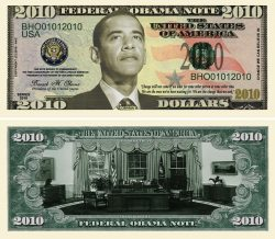 OBAMA 2010 Commemorative Bill