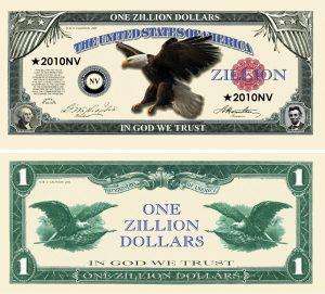 Zillion Dollar Novelty Money