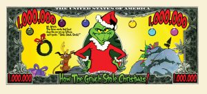 The Grinch Million Dollar Bill