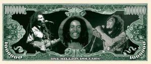 Bob Marley Million Dollar Bill