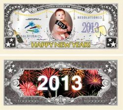 New Years 2013 Million Dollar Bill