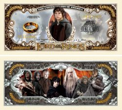 Lord of the Rings Million Dollar Bill