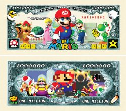 Super Mario Brothers Million Dollar Bill