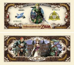 Legend of Zelda Million Dollar Bill