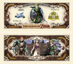 Legend of Zelda Million Dollar Bill