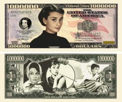 Audrey Hepburn Million Dollar Bill