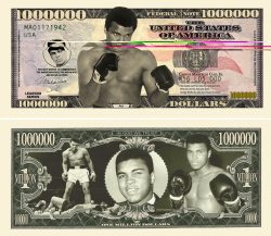 Muhammed Ali Million Dollar Bill