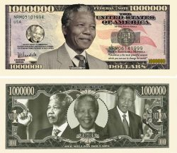 Nelson Mandela Million Dollar Bill