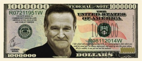Robin Williams fake million dollar bill