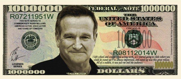 Robin Williams fake million dollar bill