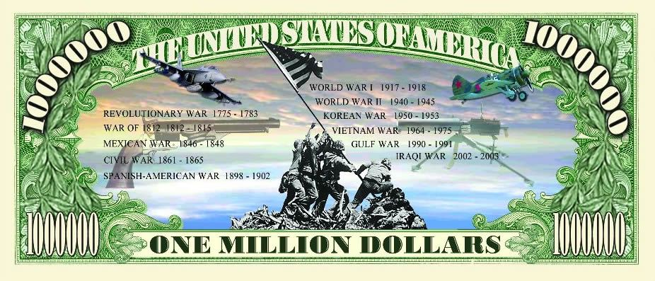 patriotic fake money
