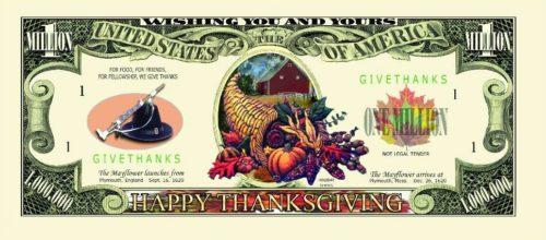 thanksgiving fake money