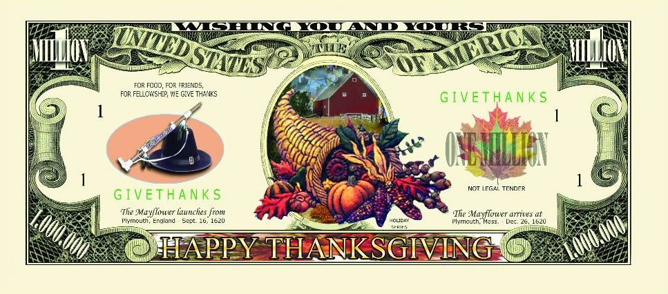 thanksgiving fake money