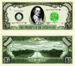 President George Washington One Million Dollar Bill