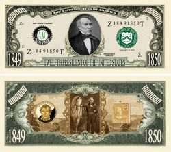 Zachary Taylor Million Dollar Bill