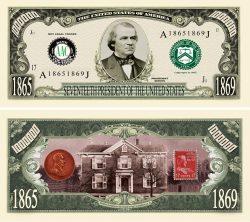 Andrew Johnson Million Dollar Bill