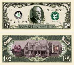 GROVER CLEVELAND MILLION DOLLAR BILL