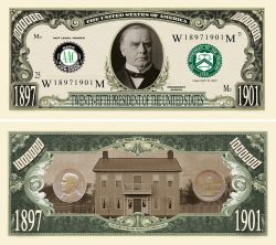 William McKinley Million Dollar Bill