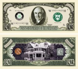 Warren G. Harding Million Dollar Bill