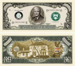 DWIGHT D. EISENHOWER MILLION DOLLAR BILL