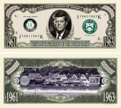 JOHN F. KENNEDY MILLION DOLLAR BILL
