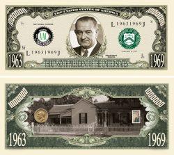 LYNDON B. JOHNSON MILLION DOLLAR BILL