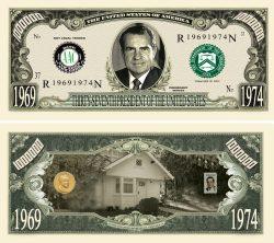RICHARD NIXON MILLION DOLLAR BILL