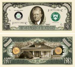 JIMMY CARTER MILLION DOLLAR BILL