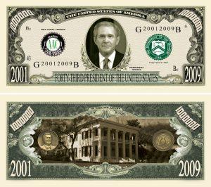 George W Bush Million Dollar Bill