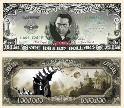 Dracula Million Dollar Bill