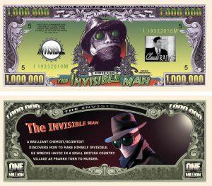 Invisible Man Million Dollar Bill