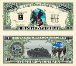 US Army Commemorative Million Dollar Bill