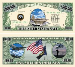 US Navy One Million Dollar Bill