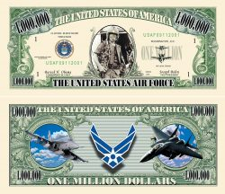 US Air Force Commemorative Million Dollar Bill
