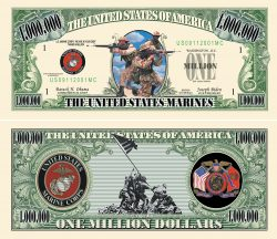 US Marines One Million Dollar Bill